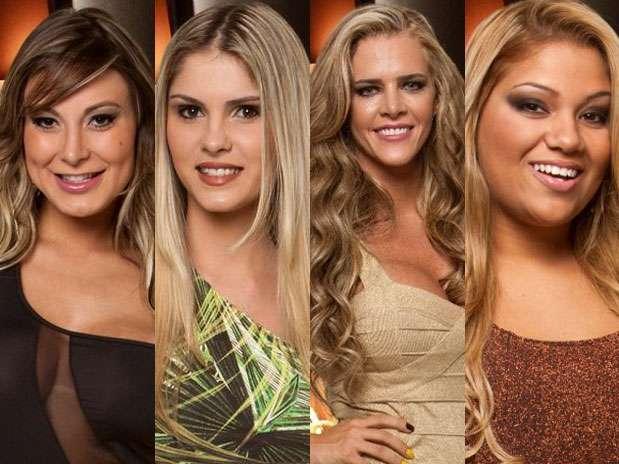Andressa Urach, Bárbara Evans, Denise Rocha e Yani de Simone foram as indicadas Foto: TV Record / Divulgação