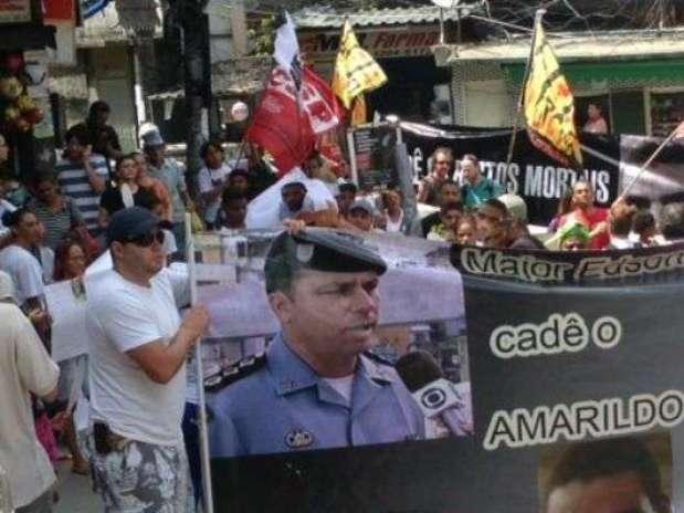 Moradores da Rocinha fizeram vários protestos por causa do desaparecimento de Amarildo Foto: JB Online
