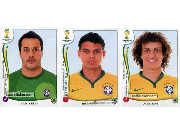 Júlio César, Thiago Silva e David Luiz Foto: Last Sticker / Reprodução