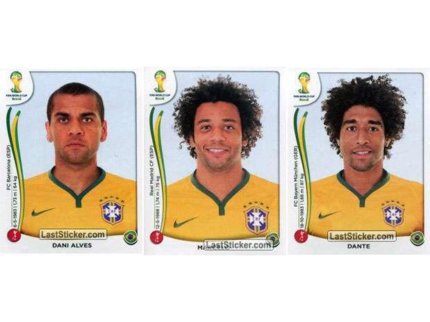 Daniel Alves, Marcelo e Dante Foto: Last Sticker / Reprodução