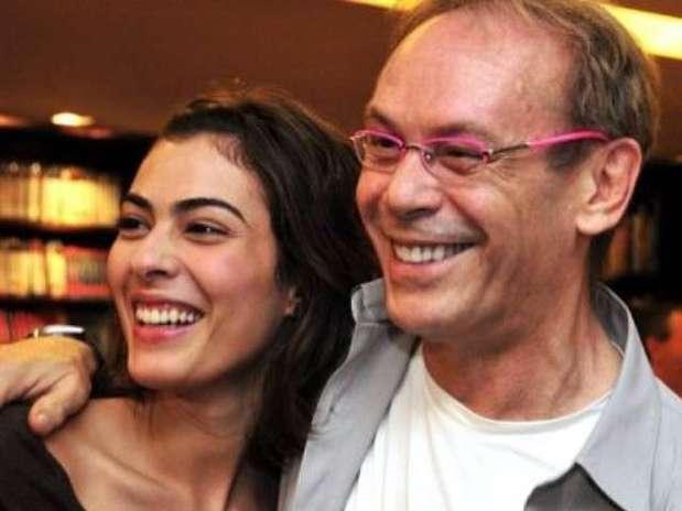 Isabel e o pai, o ator José Wilker Foto: Facebook / Reprodução