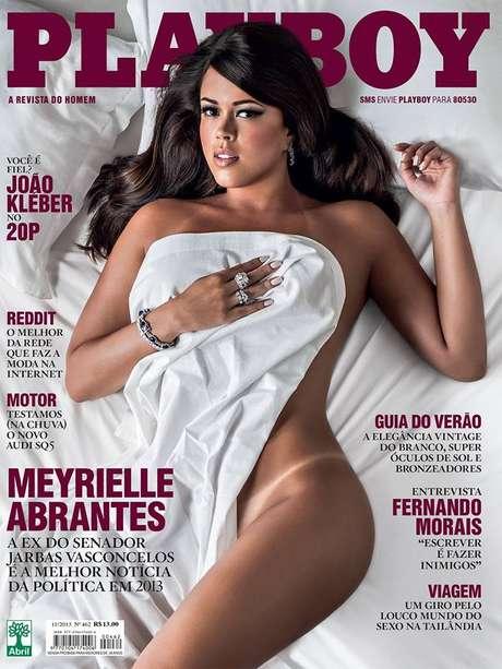Segunda da Playboy com Meyrielle Abrantes foi divulgada no Facebook Foto: Playboy / Divulgação