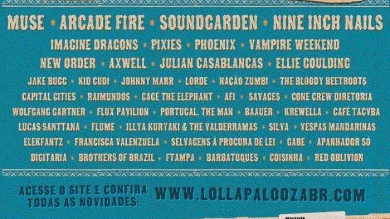 Lollapalooza 2014 anuncia line-up com Arcade Fire e Soundgarden