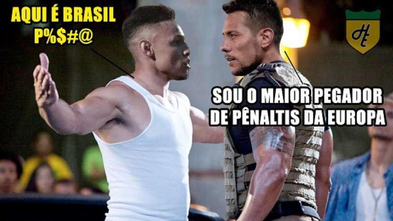 Internautas zoam Diego Alves após goleiro levar gol de pênalti de Neílton 35654c4550fae