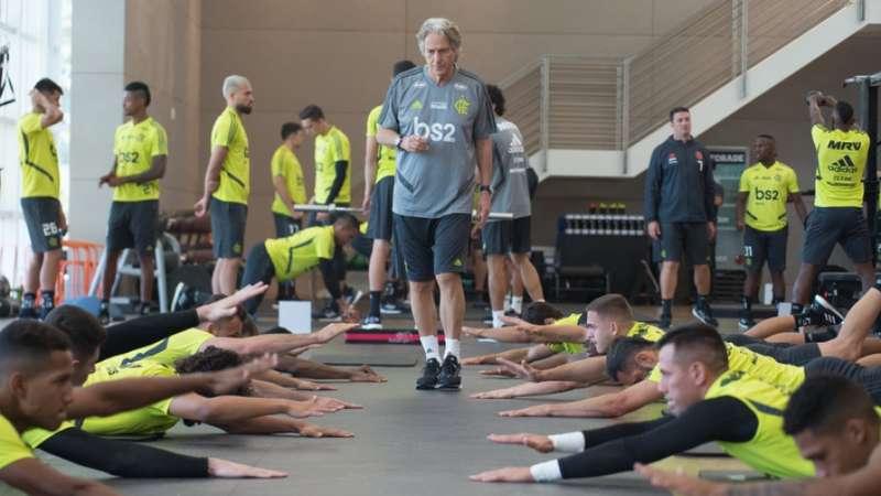 bc3fda52d9 As imagens do primeiro treino do Flamengo sob o comando de Jesus