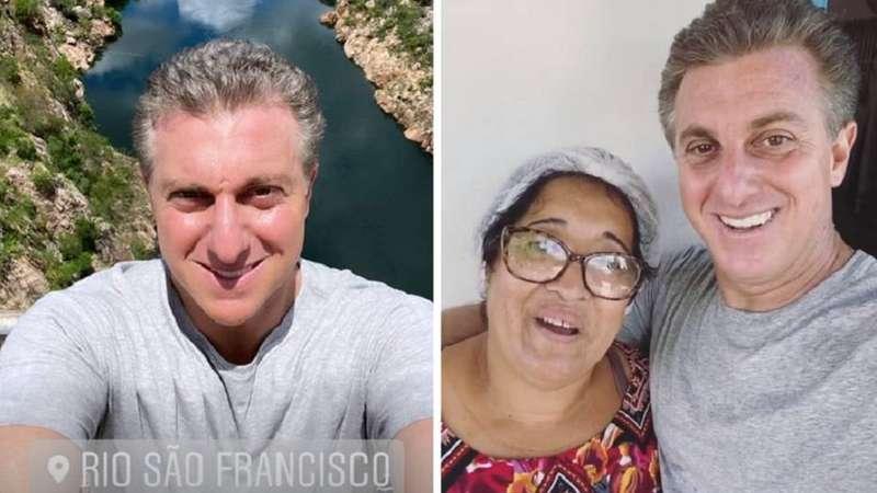 Luciano Huck visita sertão de Alagoas para gravar especial de 20 anos do Caldeirão