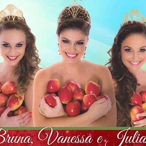 """Cartaz da Festa da Maçã gera polêmica por causa de """"topless"""" - Terra Brasil"""