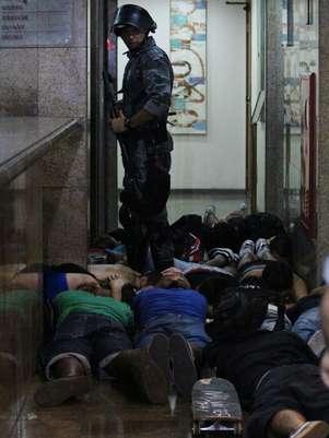 Foram 108 presos pelo Batalhão de Polícia de Choque e outros 20 pelo policiamento de área Foto: Vagner Magalhães / Terra