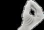 Su precisión se mantiene gracias a tres puntos de apoyo. El pulgar se mueve directamente hacia los dedos índice y medio, ideal para objetos pequeños. Los guantes son un apoyo adicional.
