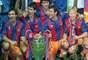 Goicoechea, Guardiola, Stoitchkov y Koeman obtuvieron la primera Champions League para el Barcelona en la temporada 1992, un agónico gol de Koeman le dio a los blaugranas su primer titulo de campeones europeo.