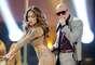 Durante el show que hicieron juntos en el Nokia Theatre dicen que el rapero tuvo una erección.