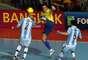 Falcão teve atuação histórica na vitória brasileira por 3 a 2 sobre a Argentina, de virada, nas quartas de final da Copa do Mundo de Futsal