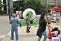 Modelo gigante da Cafusa, bola oficial da Copa das Confederações 2013, é exposta em São Paulo nesta segunda-feira