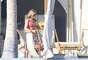 La famosa actriz de 'Friends' luce bikinazo en su estancia en la playa mexicana.