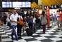 O movimento era considerado normal para o dia e horário no aeroporto da capital paulista