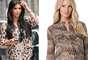 Blusa con estampado: la familia Kardashian adora el animal print y Kim no es la excepción. Esta blusa de BCBG, para embarazadas, es ideal para las mujeres con el estilo de Kim.