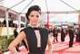 Actress Jaimie Alexander shows off her black gown.