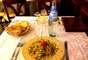 El plato de pasta larga y aplanada, lleva camarones, calabacín y crema, era el favorito de su santidad cuando almorzaba o cenaba en el restaurante.
