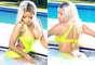 """Nicki Minaj, sigue explotando al máximo sus encantos. Ahora la cantante aparece luciendo un revelador traje de baño de neón en las escenas que formarán parte de su próximo video musical titulado """"High School""""."""