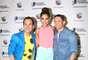 Alejandra Espinoza, flanqueada por Carlos Calderón y Rodner Figueroa, anuncian a los nominados a los Premios Juventud 2013, en un programa especial transmitido online y que contó con varios invitados especiales vía Video Chat