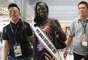 También Miss Sudán del Sur muestra su nerviosismo y alegría porque ya comienza a experimentar el mejor momento de su vida.