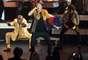 'Poppin tags' fue la canción con la que abrieron el concierto de nominados Macklemore & Ryan Lewis