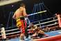 """El argentino Marcos """"Chino"""" Maidana (66,340 kilos), en una brillante demostración de boxeo, se alzó anoche con el título welter de la AMB al vencer por puntos, en fallo unánime, al hasta entonces invicto local Adrien Broner (65,545)."""