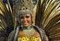 O desfile da União de Jacarepaguá contou a história da criação do mundo, a partir da história do povo e das divindades africanas, e mostrou também a criação do samba