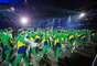 Delegação do Brasil fez uma festa bonita no desfile