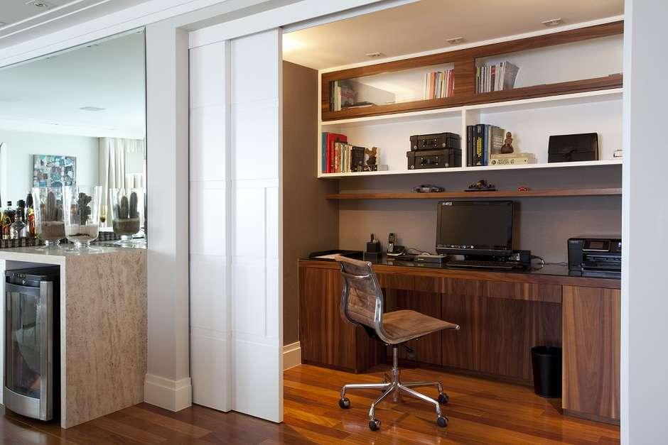 Sala Tv Com Home Office ~ Inspirações para home office na cozinha, no quarto e até no