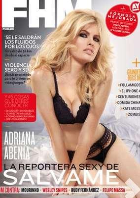 Adriana Abenia, 'la reportera más sexy de Sálvame' era portada de 'FHM' en el mes de septiembre.