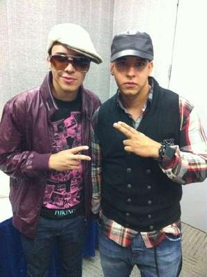 "Here he is with Daddy Yankee, with whom he recorded the duet ""Ven Conmigo""."