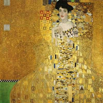 Gustav Klimt, el pintor simbolista austriaco, utilizó mosaicos dorados en sus creaciones.