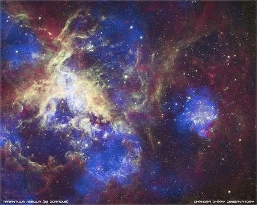 El telescopio especial Hubble, uno de los más importantes, ya lleva 22 años recogiendo las mejores imágenes del espacio. A continuación, les presentamos las más recientes. Imagen facilitada por la NASA de la Nebulosa de la Tarántula, en una de nuestras galaxias vecinas, la Gran Nube de Magallanes, a 165.000 años-luz de distancia del planeta Tierra.