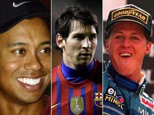 El diario británico The Times publicó la lista de los más ricos del deporte en todos los tiempos. El ranking, que cuenta con astros como Tiger Woods, Lionel Messi y Michael Schumacher, es publicado y actualizado anualmente. Conoce a los 20 primeros de la lista.