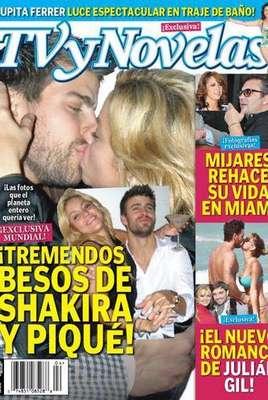 El romance de Shakira con Piqué se hizo público en agosto de 2010. Cuando una revista los atrapó a los besos.