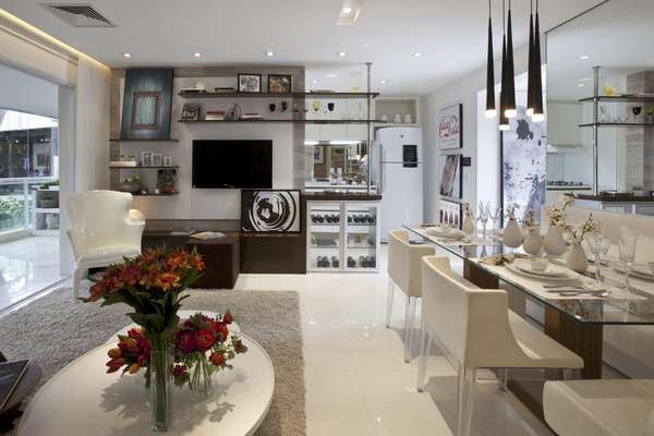 Para atrair clientes, construtoras têm caprichado nos apartamento decorados nos estandes de venda