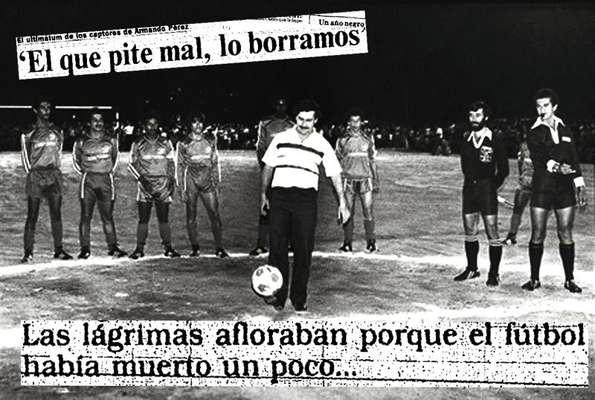 Su pasión y generosidad con el fútbol quedó deshecha cuando mandó asesinar al árbitro Ortega en Medellín tras perder una apuesta por la derrota del DIM ante América de Cali en noviembre de 1989