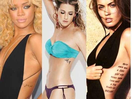 As mulheres estão cada vez mais adeptas às tatuagens: é só dar uma olhada nas fotos das famosas para ver os mais diferentes estilos e tamanhos. Frases, símbolos, flores, borboletas, corações e outros formatos aparecem desde os lugares mais escondidos, até os pontos mais ousados do corpo. Rihanna, Megan Fox, Miley Cyrus, Vanessa Hudgens são algumas das celebridades internacionais que já enfrentaram a agulha, enquanto que, dentro do território nacional, estão nomes como Deborah Secco, Giovanna Ewbank, Luana Piovani, Gisele Bündchen e Isis Valverde. Confira na galeria a seguir os estilos de tatuagem adotados pelas estrelas brasileiras e internacionais
