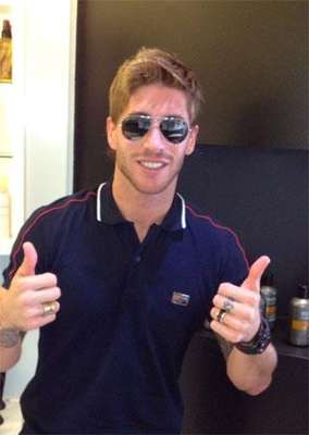Sergio Ramos ha presentado su nuevo 'look' a través de Twitter. / Foto: Twitter