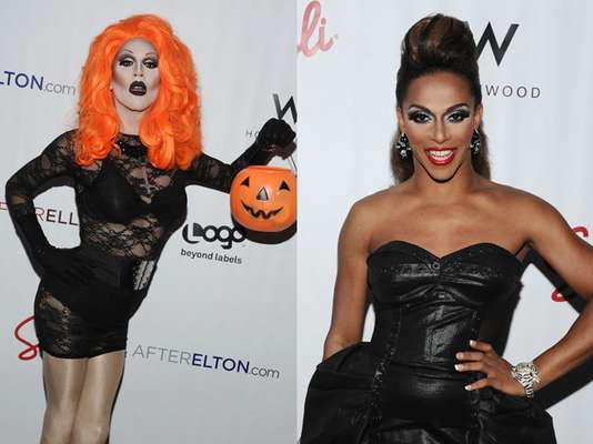 """Halleloo! """"RuPaul's Drag Race"""" alum, Sharon Needles and Shangela, rocked Hollywood, California, yesterday. They were just some of the dragtastic stars at Logo's AfterEllen & AfterElton Inaugural 'Hot 100 Party.' The event was held at Station Hollywood at the W Hollywood Hotel."""