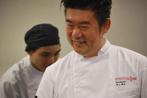 O chef Tsuyoshi Murakami esteve em Campos do Jordão no último sábado (21) para algumas práticas gastronômicas