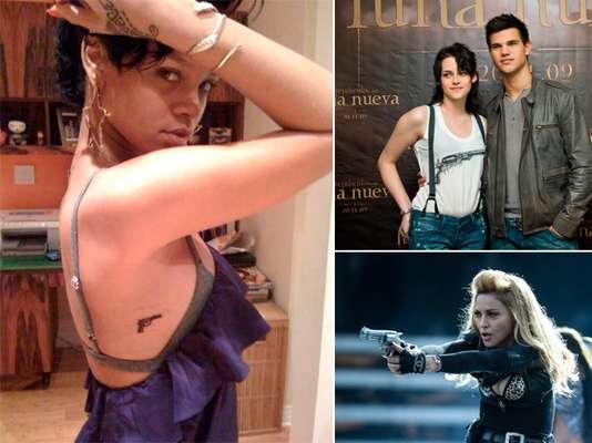 Algunas celebridades se han unido a la cultura gun. En tatuajes, atuendos o sobre el escenario han demostrado su gusto por las armas.