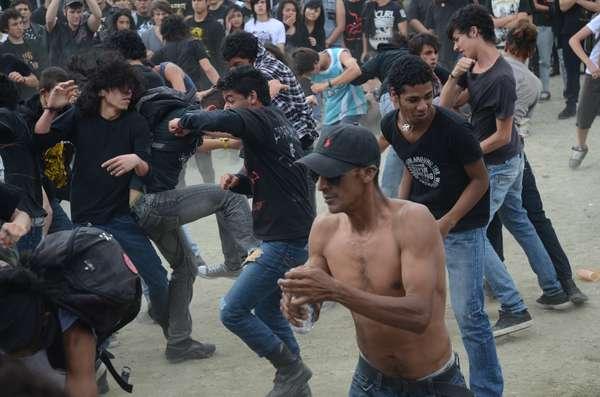 Los pogos se tomaron a Expo Ferias con las presentaciones de los grupos de metal en Manizales Grita Rock, festival que culminó ayer en la capital de Caldas.