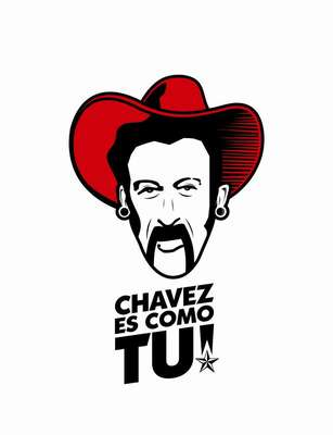 """""""Ola Bolivariana"""" es la curiosa campaña presidencial de Hugo Chávez en la que el mandatario aperece retratado en las más inusitadas situaciones."""