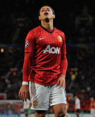 Javier Hernández jugó los últimos 10 minutos en la victoria del Manchester United sobre el Liverpool; nada qué rescatar.