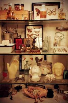 Biblioteca de anatomia mórbida, New York, Estados Unidos. Esse museu guarda de tudo um pouco. Desde objetos nojentos, bonecas velhas, e objetos de poetas até mesmo animais empalhados vestidos com trajes humanos