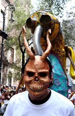 La mañana del sábado 20 de octubre desfilaron por las calles de la ciudad de México distintos alebrijes de todos tamaños y colores.