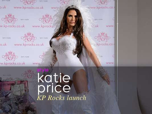 "Katie Price was looking mighty sexy at the launch of her new jewelry line, ""KP Rocks."""