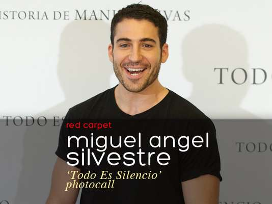 """Miguel Angel Silvestre presented his new film """"Todo Es Silencio"""" (""""All The Silence"""") in Madrid."""